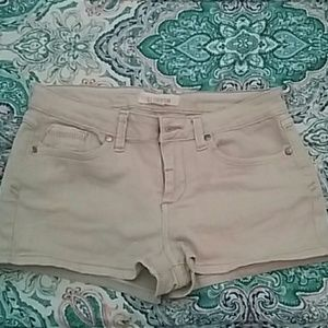 Forever 21 Tan Denim Shorts